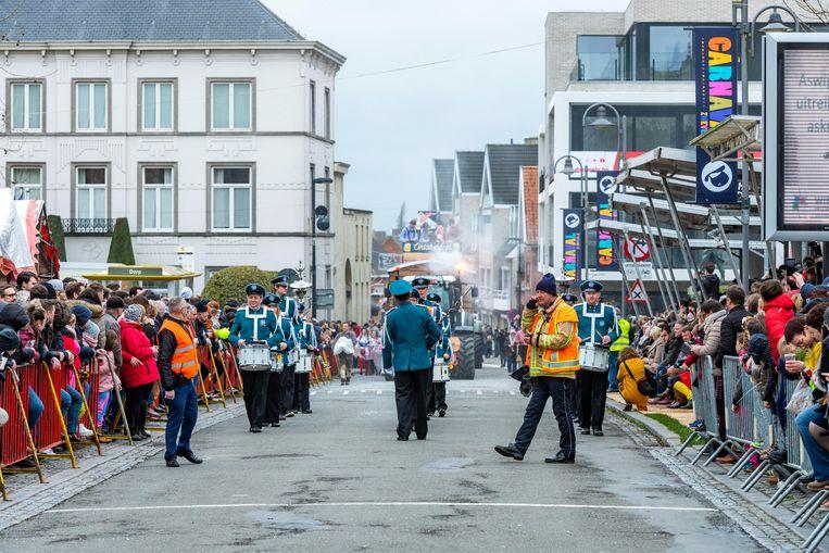 Zwevezele 23/02/2020, Carnaval Zwevezele werd bijna afgelast door het stormachtig weer. (picture by Florian Van Eenoo/Photo News)