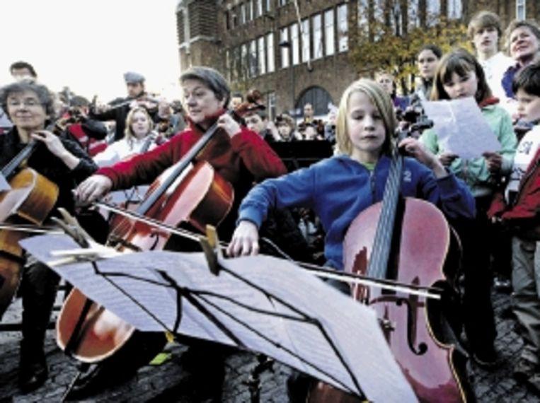 Profs en amateurmusici spelen Beethoven in Utrecht. (FOTO ANP) Beeld ANP