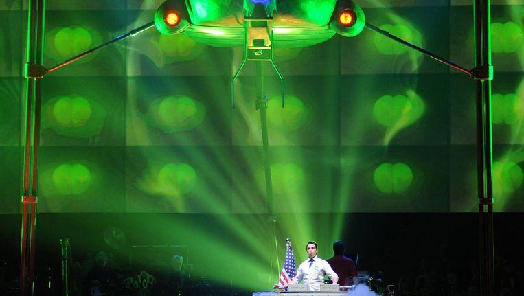 Beeld uit een eerdere versie van de musical The War of the Worlds, die in november 2010 Amsterdam aandeed Beeld Roy Smiljanic