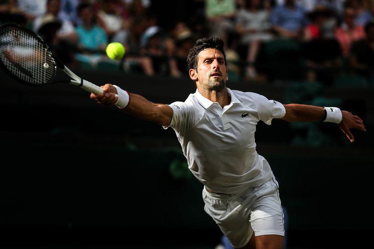Novak Djokovic had vier sets nodig om de vierde ronde te bereiken.  Beeld Getty Images