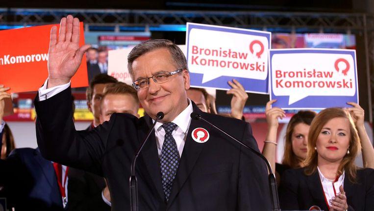 President Komorowski op verkiezingsavond. Beeld epa