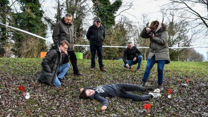 Brusselse Forten voor even crime scene