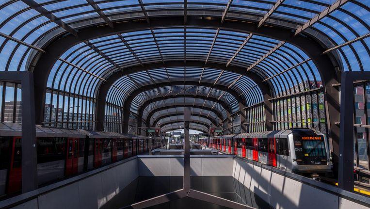 Het nieuwe station Noord. Beeld Rink Hof