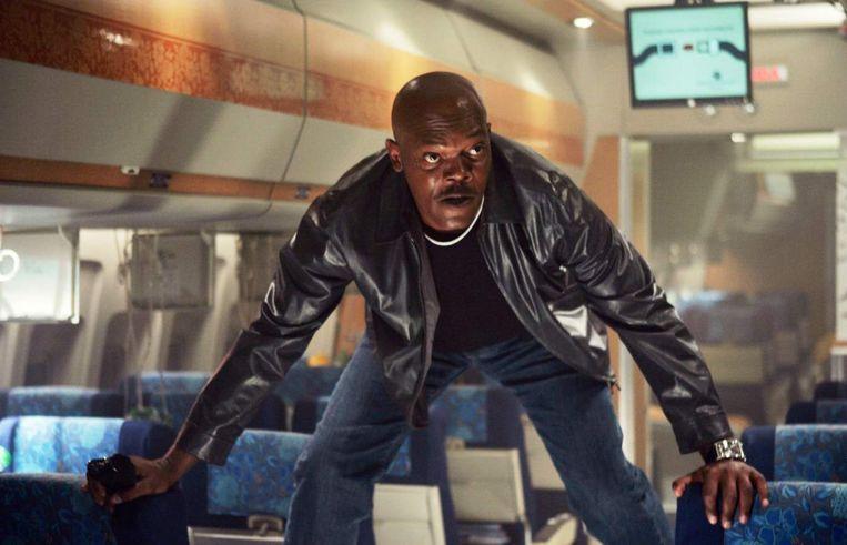Samuel L. Jackson in Snakes On a Plane. Beeld filmbeeld