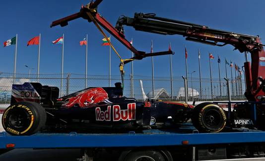 Max Verstappen viel in 2016 uit met zijn Toro Rosso.