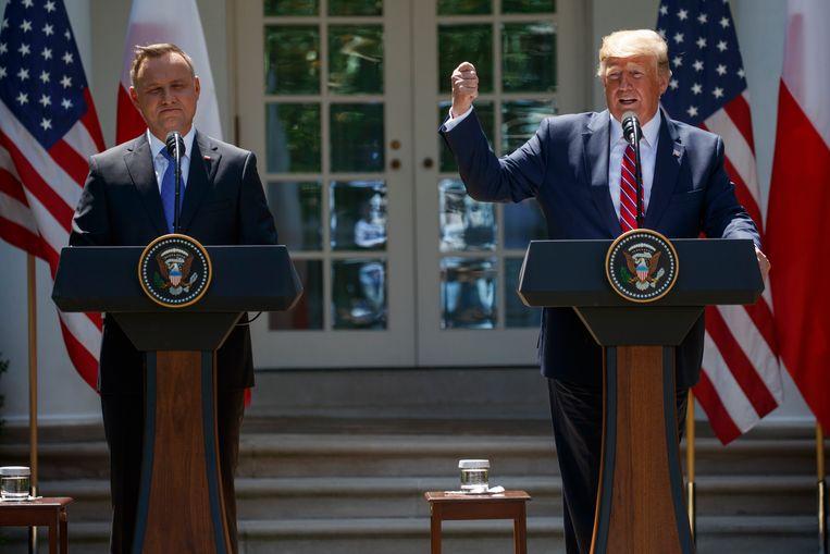 Duda en Trump. Beeld AP