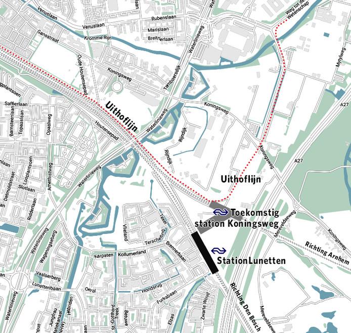 Op deze plek moet het nieuwe station Koningsweg komen.