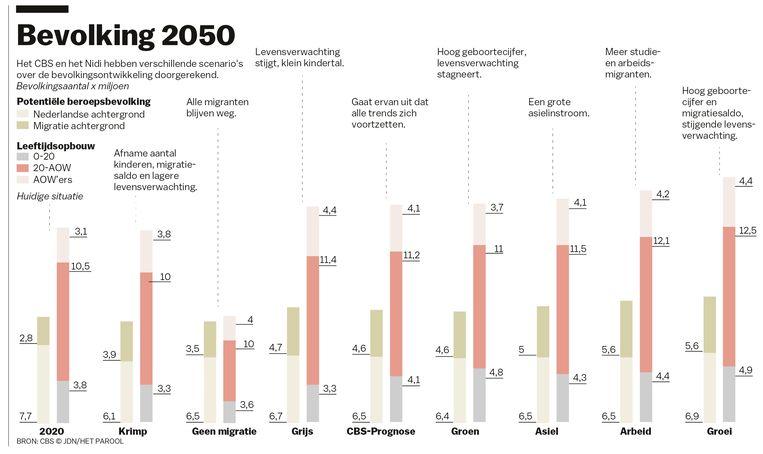 Bevolkingsprognose 2050 Beeld Jet de Nies