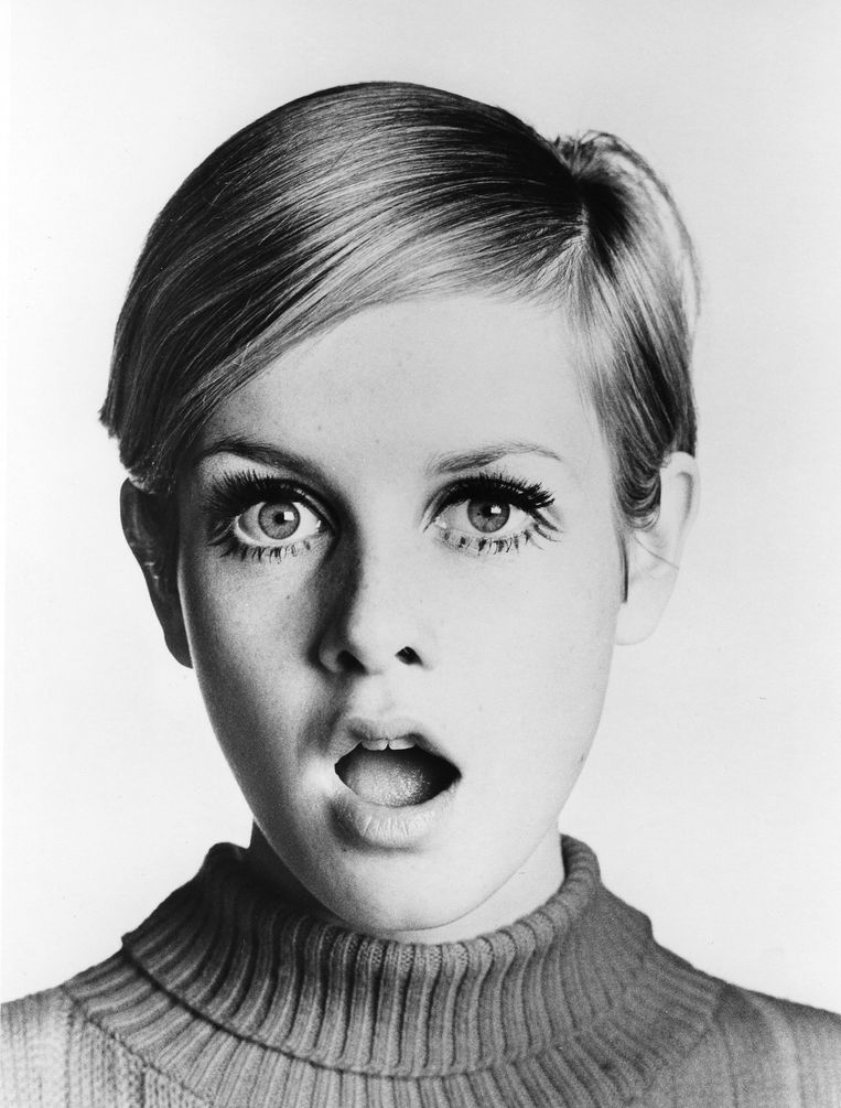 Supermodel Twiggy rond 1967.  Beeld Michael Ochs Archives/Getty Images