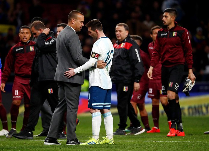 Dudamel met Lionel Messi.