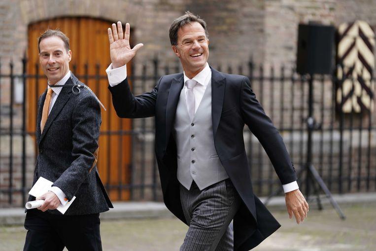 Minister-president Mark Rutte bij de Ridderzaal op Prinsjesdag.  Beeld ANP