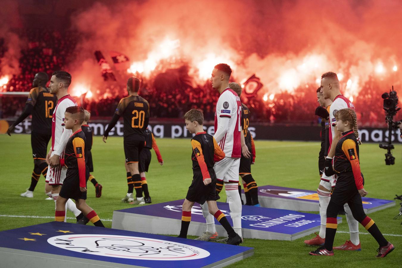 Ajax speelde dit seizoen namens Nederland in de Champions League.