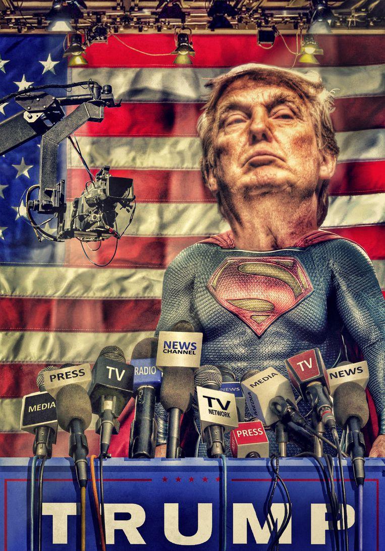 Hoe media Trump onderschatten, groot maakten en tot held verklaarden. Beeld Javier Muñoz