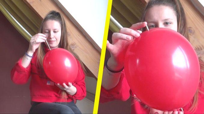 Kan je een ballon doorprikken zonder dat hij knalt?