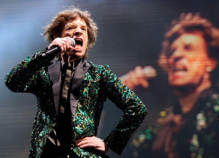 Mick Jagger op Glastonbury 2013