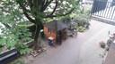 Uitzicht op de vogelkooi van David de Jong.