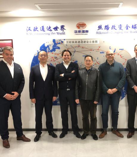 Helmonds Nunner opent tweede spoorverbinding met China
