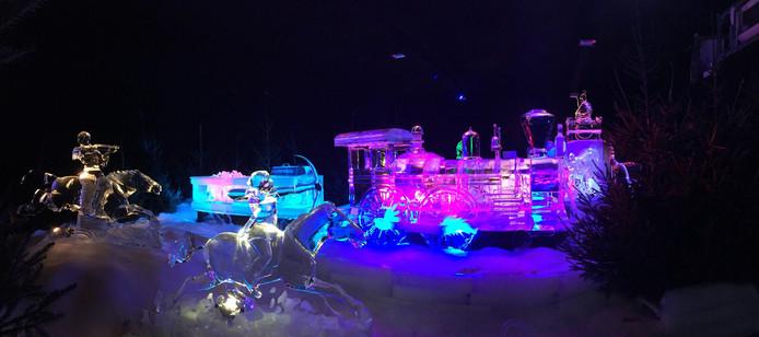 Het ijsbeeldenfestival in Zwolle. Foto: Sander Lindenburg