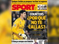 """La Une choc d'un quotidien catalan: """"Courtois, pourquoi tu ne te tais pas?"""""""