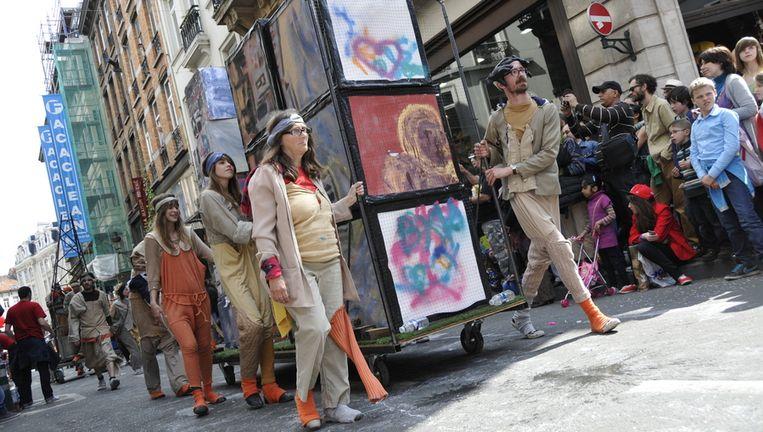 Een beeld van de Zinneke Parade van twee jaar geleden.