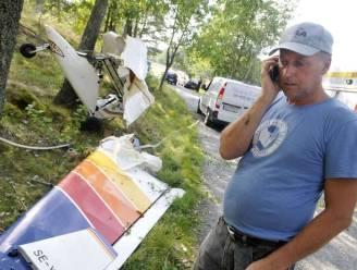 Zweedse piloot landt op boomtoppen