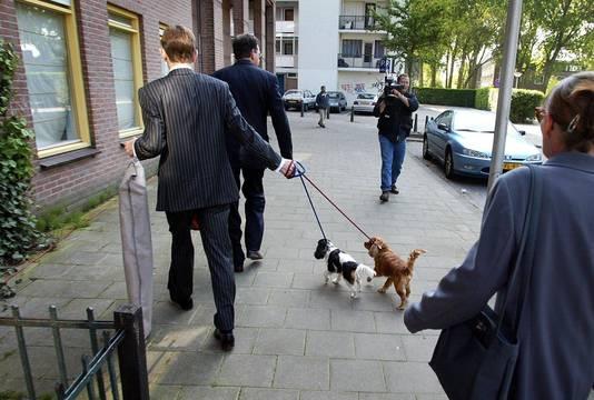 Archiefbeelden van de hondjes van Fortuyn. FOTO ANP