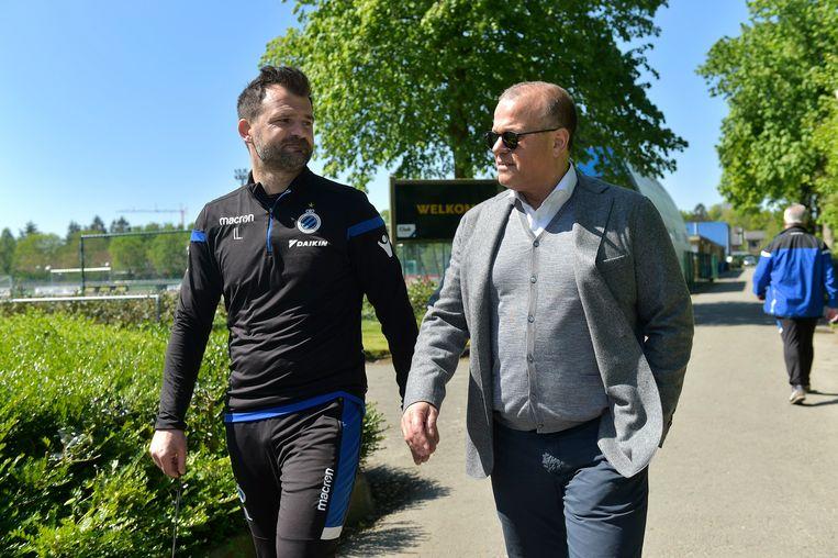 Verhaeghe eerder deze week met zijn trainer Ivan Leko.