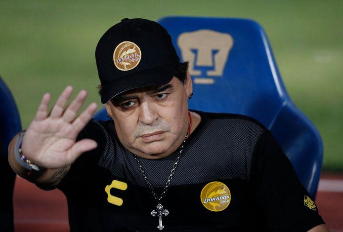 Diego Maradona begin dit jaar als coach bij het Mexicaanse Dorados.