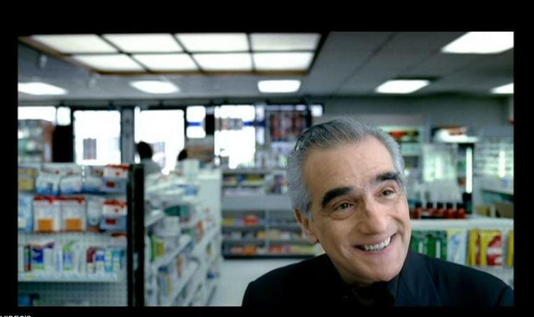 Scorsese in een door hemzelf gemaakt spotje voor American Express. Beeld