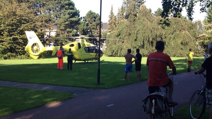 Ook een traumahelikopter kwam ter plaatse.