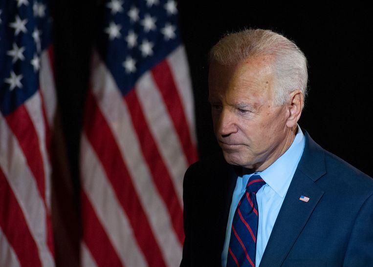 De Democraat Joe Biden, voormalig vicepresident en nu kandidaat voor het presidentschap.  Beeld null