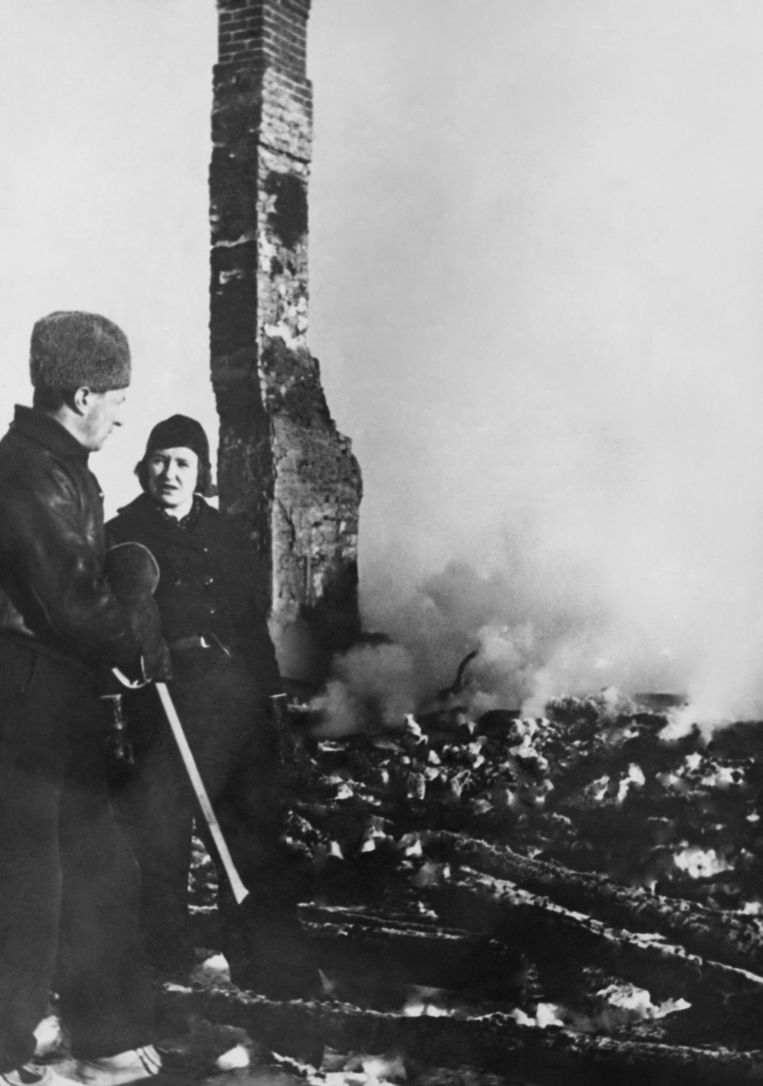 28 februari 1940: Pajala na het Russische bombardement. Beeld Gamma-Keystone via Getty Images