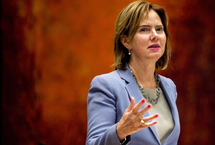 Minister Cora van Nieuwenhuizen van Infrastructuur en Waterstaat (VVD) tijdens een debat in de Tweede Kamer. (Foto ter illustratie)