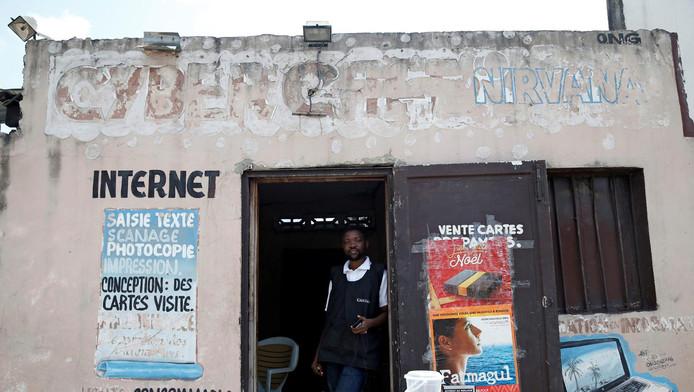 Un cyber-café à Kinshasa, le 7 janvier dernier.