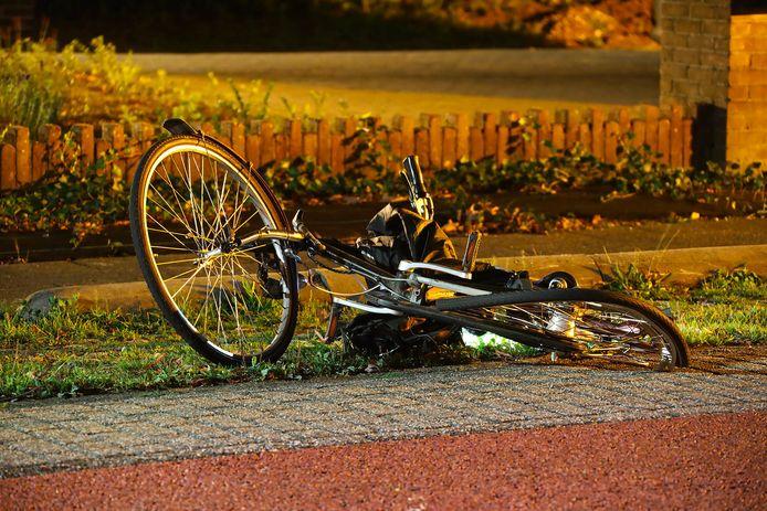 De fietser is gewond geraakt.