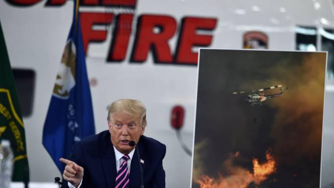 """Trump ontkent verband tussen klimaatopwarming en bosbranden in Californië: """"Het zal koeler beginnen te worden, let maar op"""""""