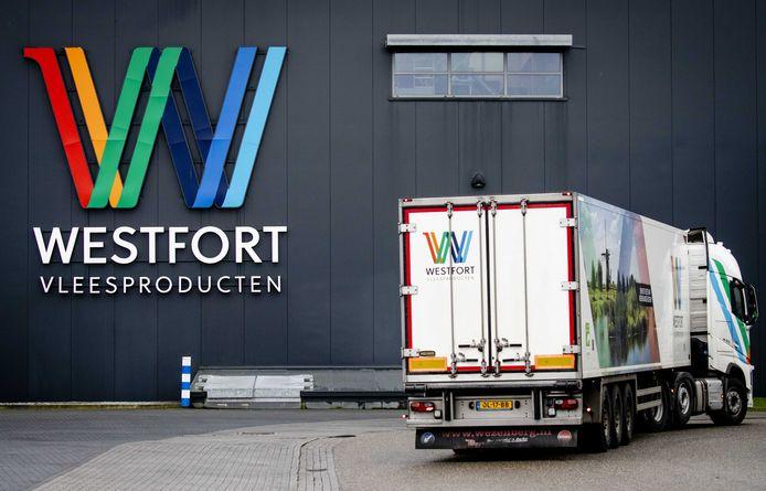 Slachthuis Westfort in IJsselstein, waar dertig medewerkers besmet blijken met het coronavirus.