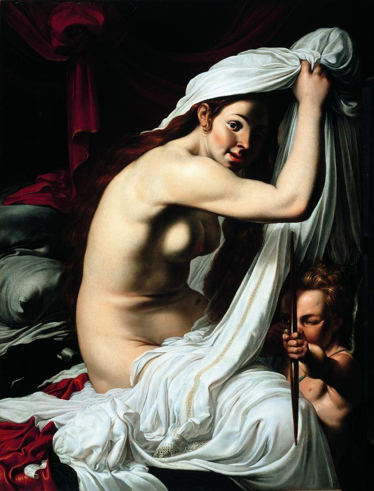 Werner van der Valckert: Venus en Cupido, circa 1612; olieverf op paneel; 101,4 x 75,6 cm. Collectie David P. Southwell Beeld -