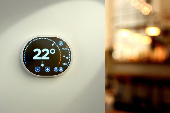 Voorbeeld van een slimme thermostaat.