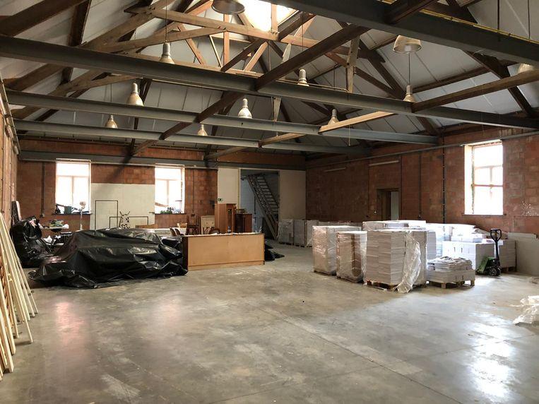In de centrale ruimte is er plaats om tentoonstellingen en andere evenementen te organiseren.