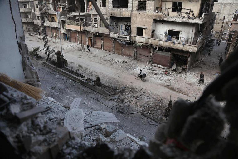 Damascus, Oost-Ghouta. Beeld AFP
