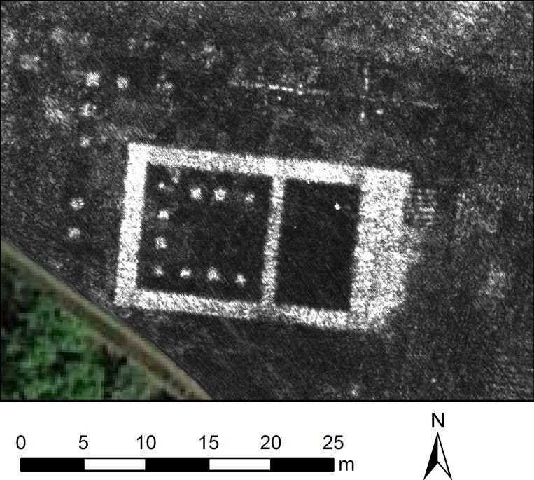Tempel in Falerii Novi, ontdekt met bodemradar Beeld L.Verdonck