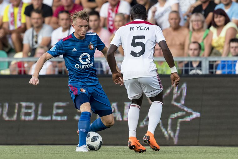 Feyenoord-speler Sam Larsson. Beeld null