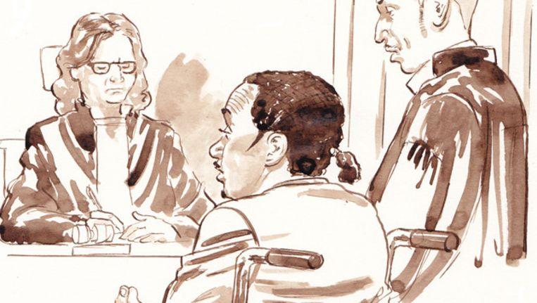 Maikel R. tijdens de zitting in de rechtbank in Utrecht in januari. Beeld anp