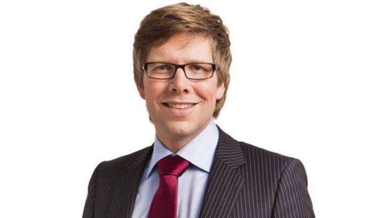 Arjan Lock, sinds 2008 directeur van de Evangelische Omroep (EO). Hij is medepresentator van de tv-programma's Nederland Zingt en Nederland Helpt. Beeld EO