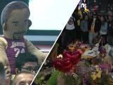Bloemen en tranen na overlijden Kobe Bryant