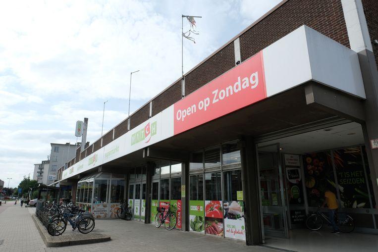 Supermarkt Match aan de Maantjessteenweg in Merksem.