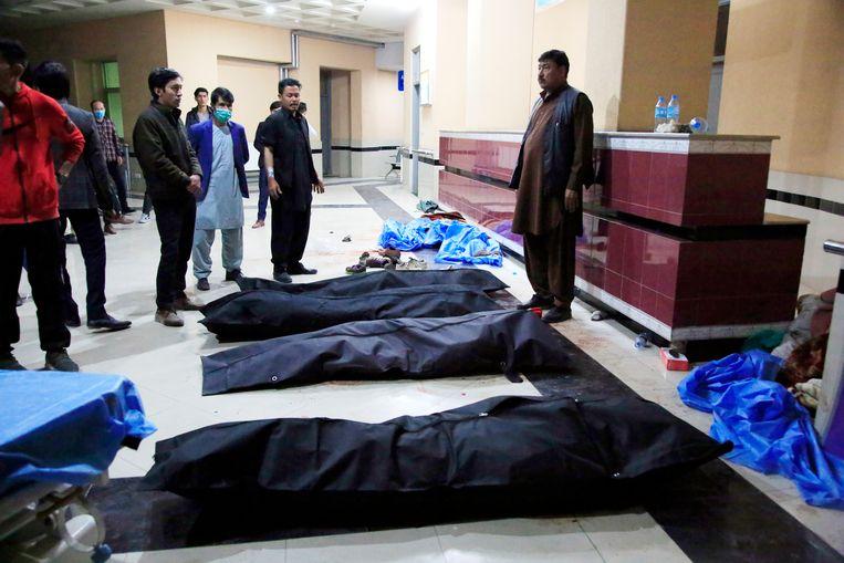 Bij de zelfmoordaanslag kwamen zeker achttien mensen om het leven. Beeld AP