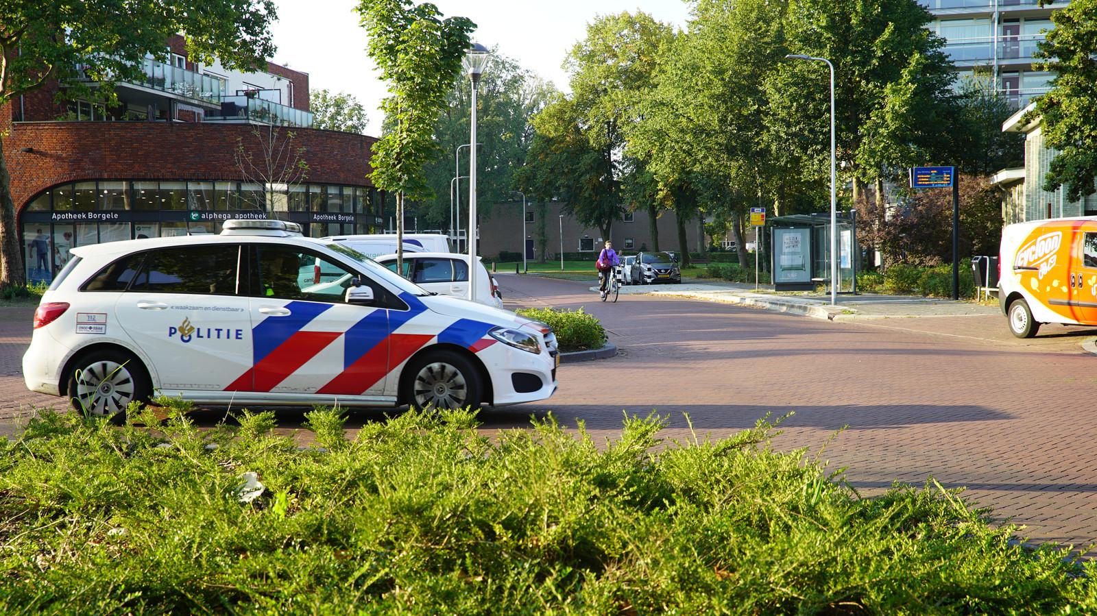 De politie bij de plaats van de aanrijding.