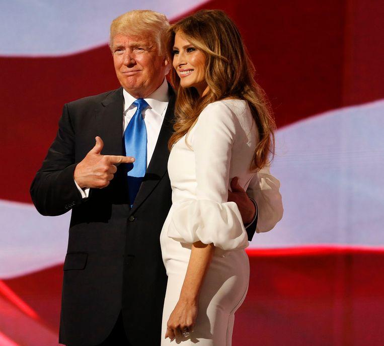 Donald Trump liet na afloop van de toespraak weten enorm fier te zijn op zijn vrouw.